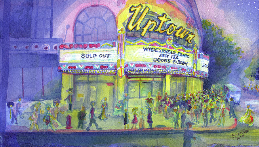 Widespread Panic Painting - Widespread Panic Uptown Theatre  by David Sockrider