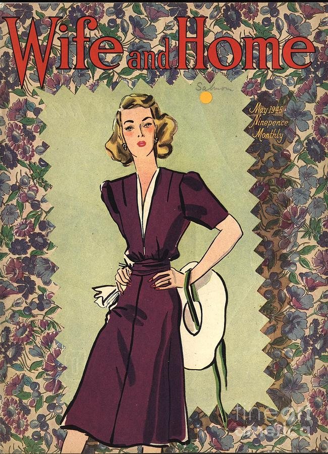 1940s Drawing - Wife And Home 1940s Uk Womens Magazines by The Advertising Archives