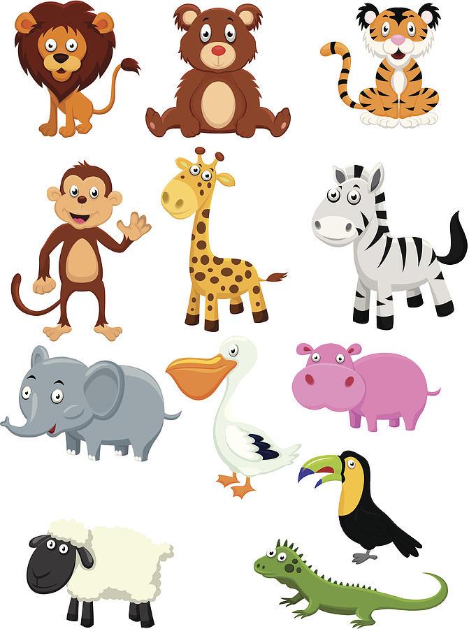 Wild Animal Cartoon Digital Art by Tigatelu