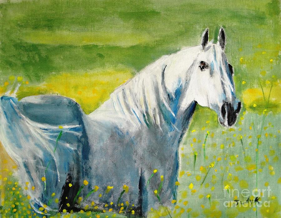 Horses Painting - Wild As The Wind by Judy Kay