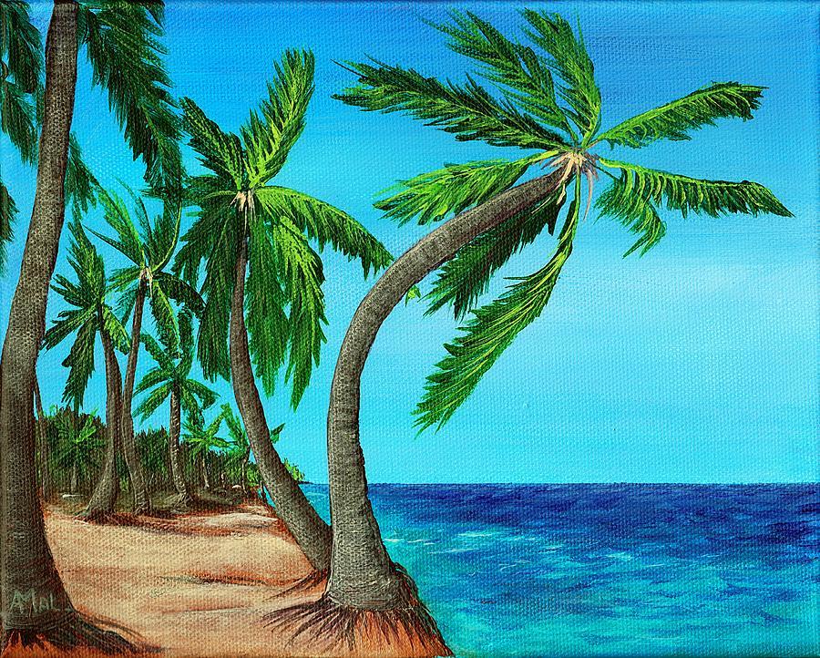 Shore Painting - Wild Beach by Anastasiya Malakhova