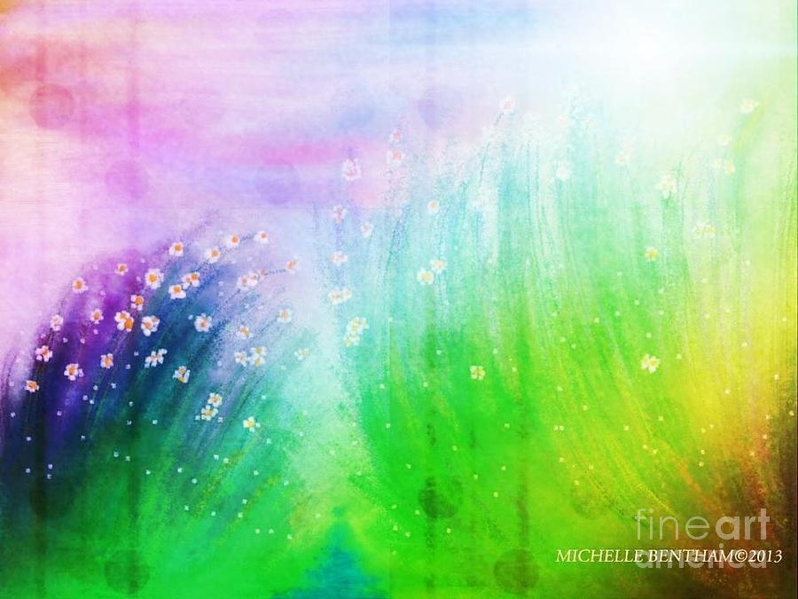 Digital Artwork Painting - Wild Beauty by Michelle Bentham