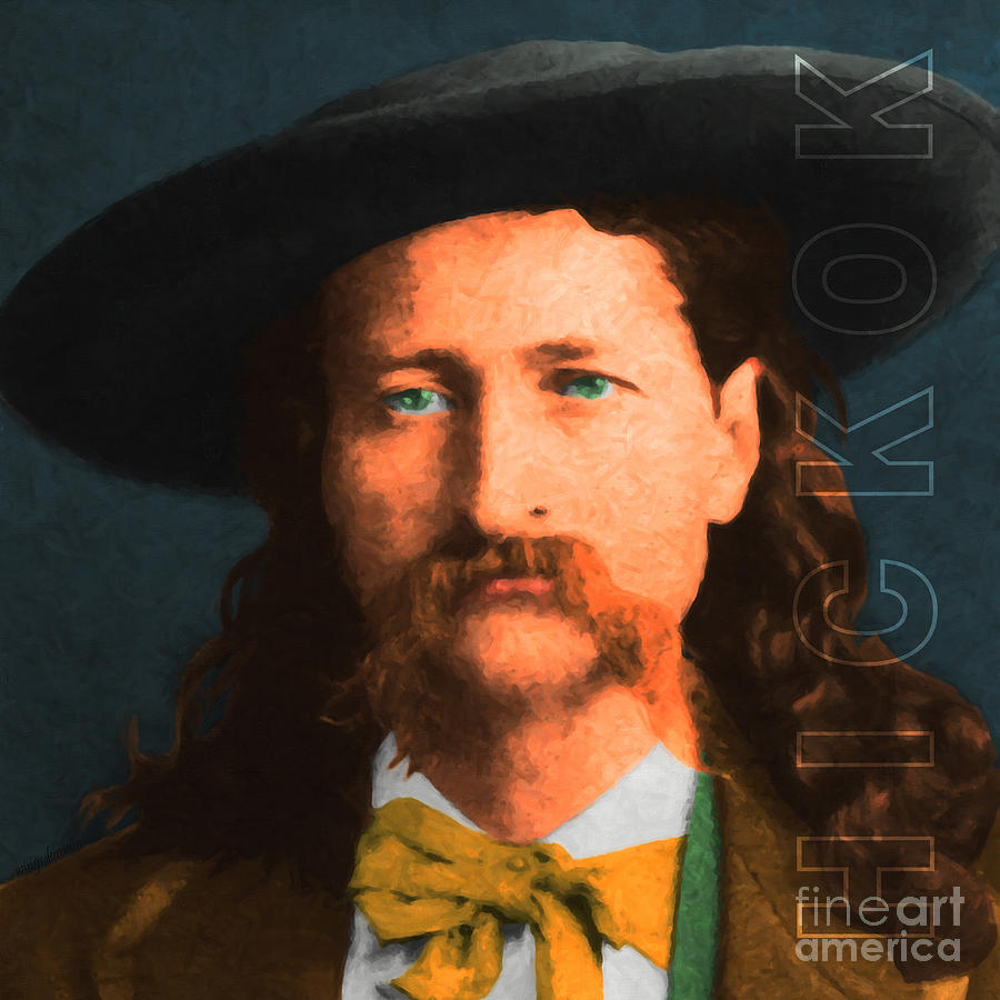 Wild Bill Hickok Photograph - Wild Bill Hickok 20130518 Square With Text by Wingsdomain Art and Photography
