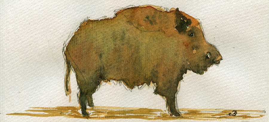 Wild Painting - Wild Boar by Juan  Bosco