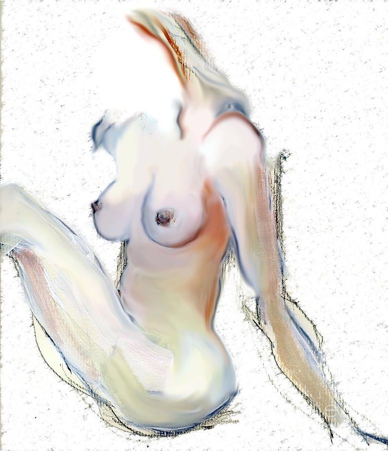 Female Nude Mixed Media - Wild - Female Nude by Carolyn Weltman