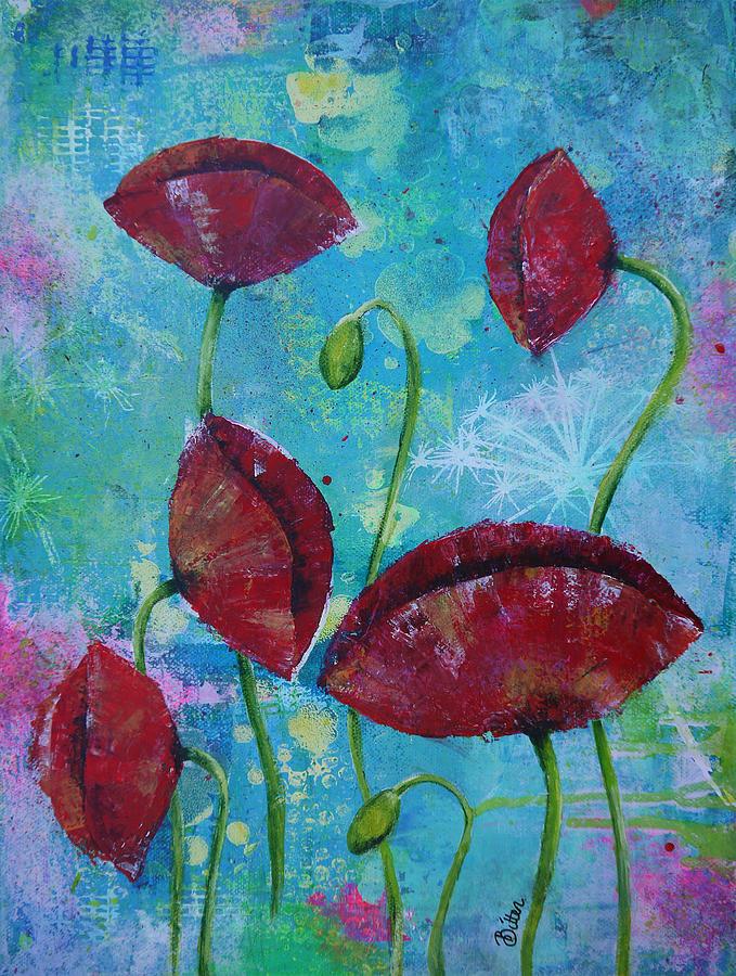 Poppies Painting - Wild Child by Bitten Kari