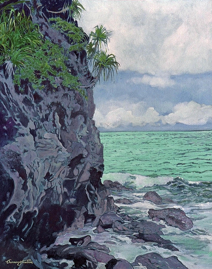 Beach Painting - Wild Coast by Thomas Stratton