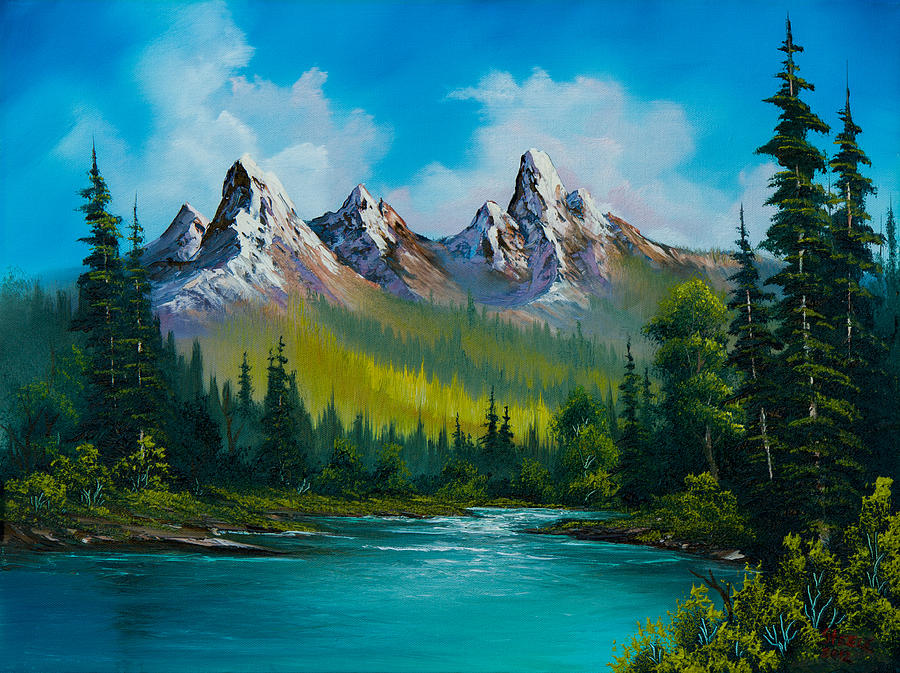 Landscape Painting - Wild Country  by C Steele