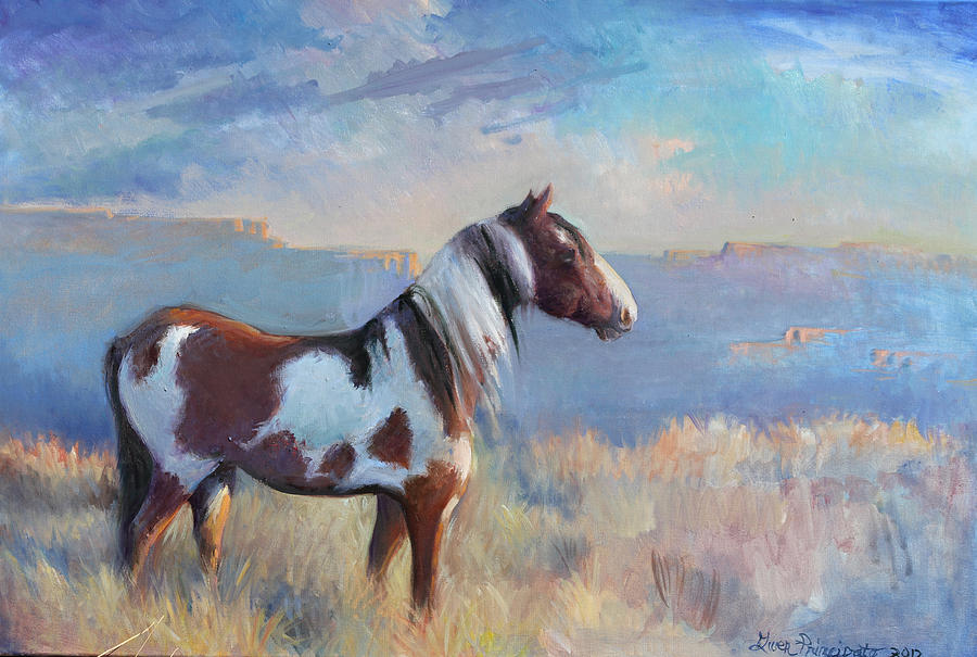 Western Horses Painting - Wild Domain by Gwen Carroll