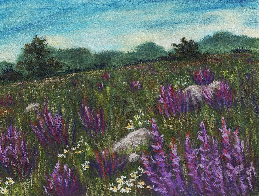 Calm Painting - Wild Flower Field by Anastasiya Malakhova