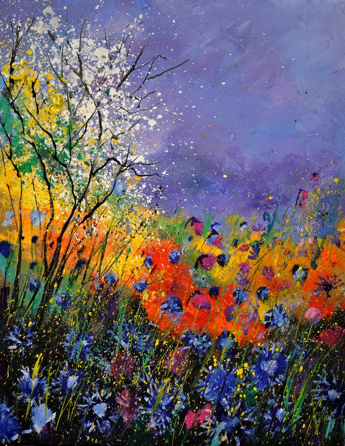 Landscape Painting - Wild Flowers 4110 by Pol Ledent
