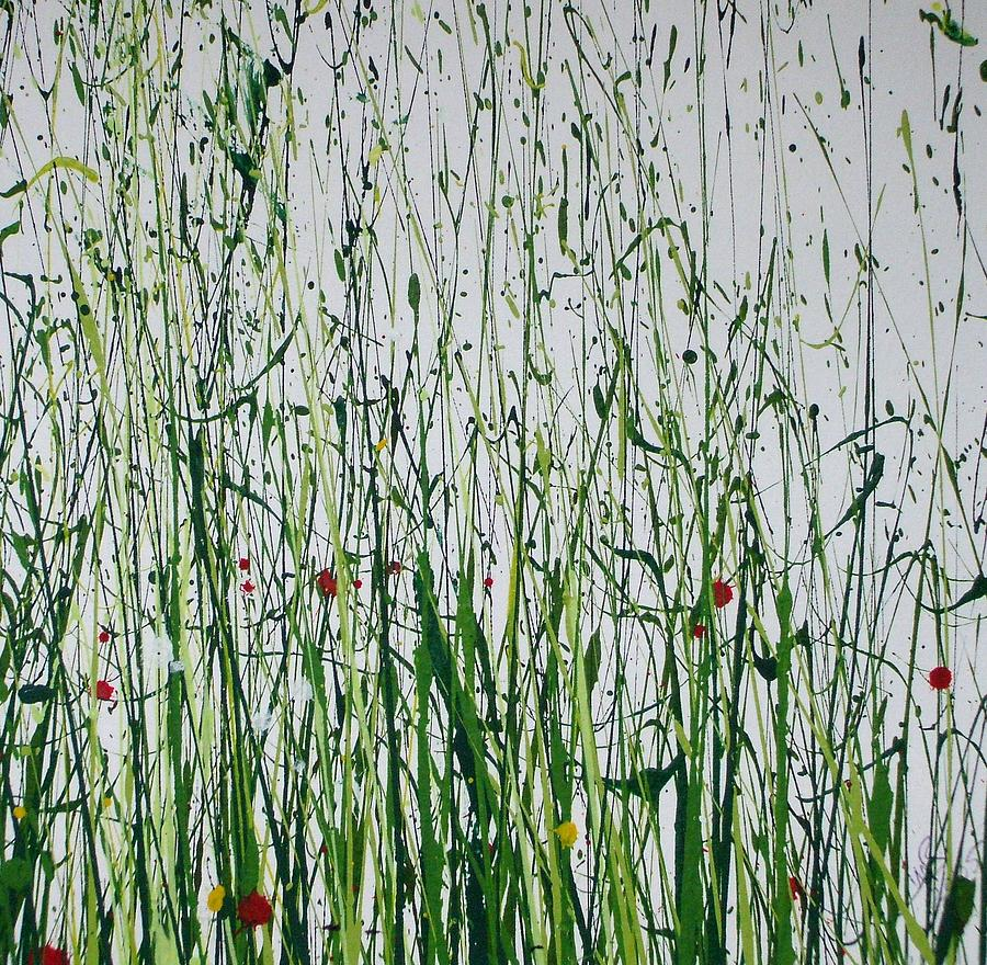 Wild Flowers And  Grasses No 4 Painting by Mike   Bell