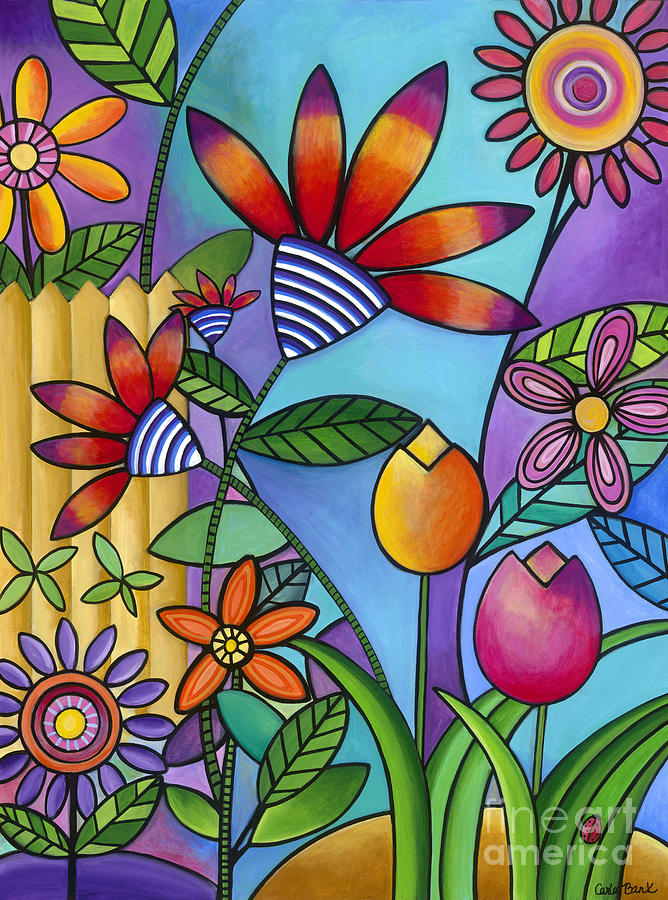 Floral Painting - Wild Flowers by Carla Bank