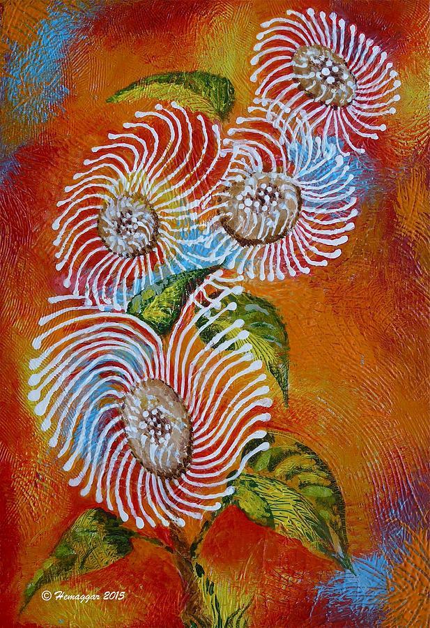 Wild Flower Painting - Wild Flowers by Hemu Aggarwal