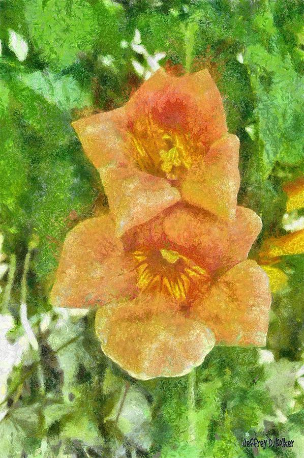 Bloom Painting - Wild Flowers by Jeffrey Kolker