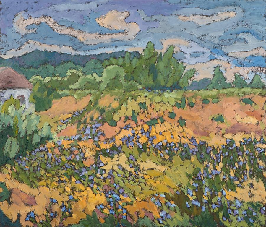 Wildflower Painting - Wild Flowers On The Dyke Bank  by Marta Martonfi Benke