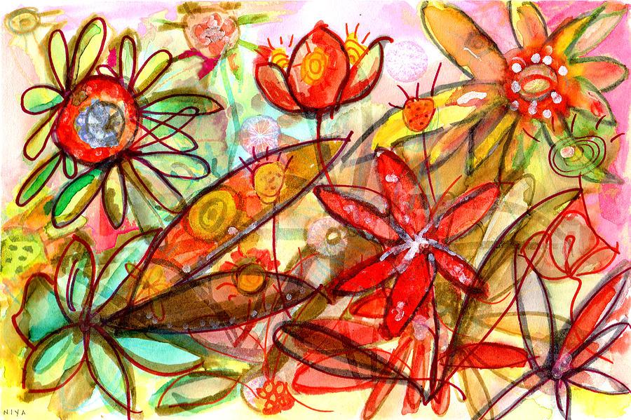Nature Painting - Wild Flowers Series #1 by Niya Christine