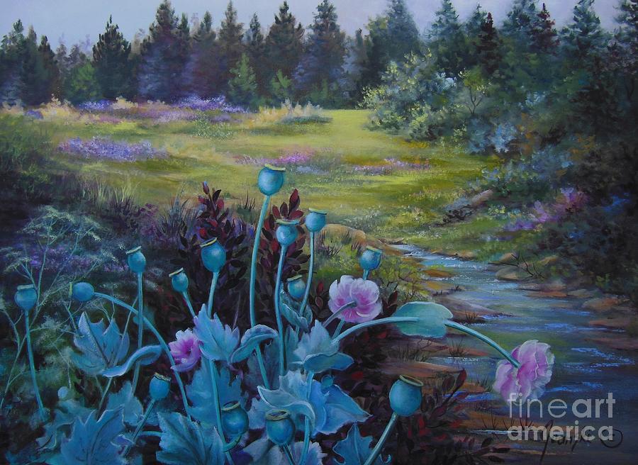 Landscape Painting - Wild Garden by Jean  Yanowski