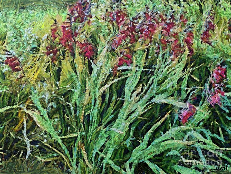 Floral Painting - Wild Gladiolus by Dragica  Micki Fortuna