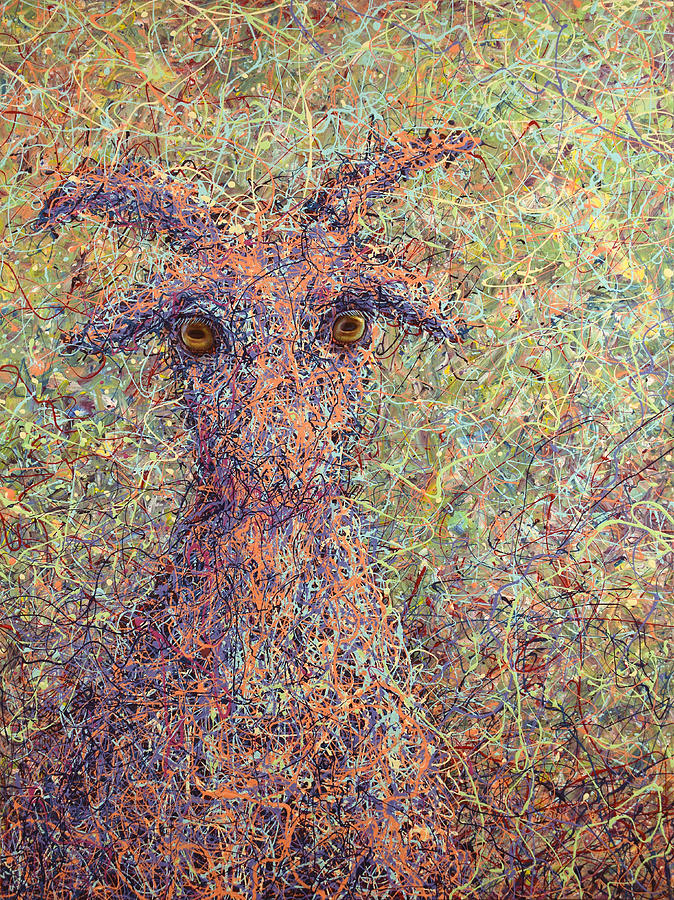 Goat Painting - Wild Goat by James W Johnson