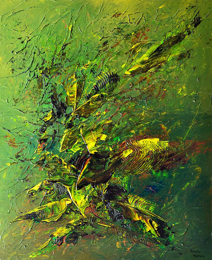 Abstract Painting - Wild Green by Thierry Vobmann
