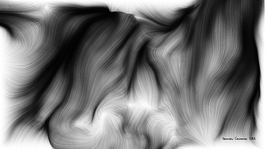 Wild Hair 1 Digital Art by German Calderon