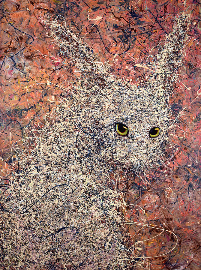 Rabbit Painting - Wild Hare by James W Johnson