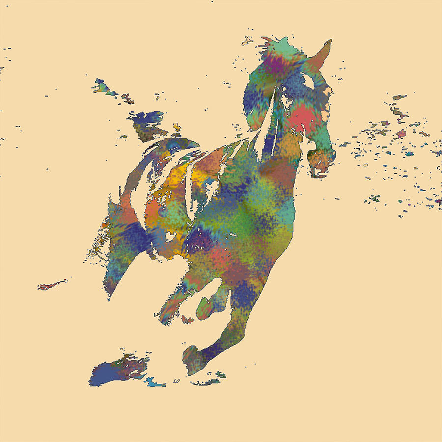 Horse Digital Art - Wild Horse by Soumya Bouchachi