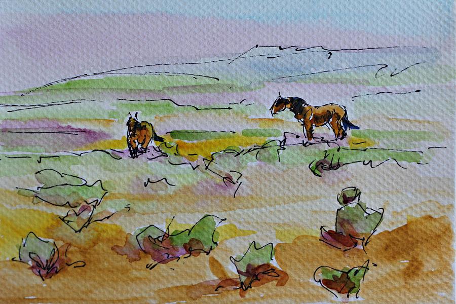 Landscape Painting - Wild Horses by Karen McLain