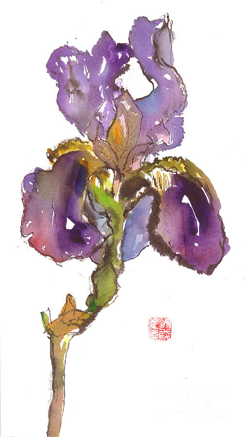 Watercolor Painting - Wild Iris by Gwen Nichols