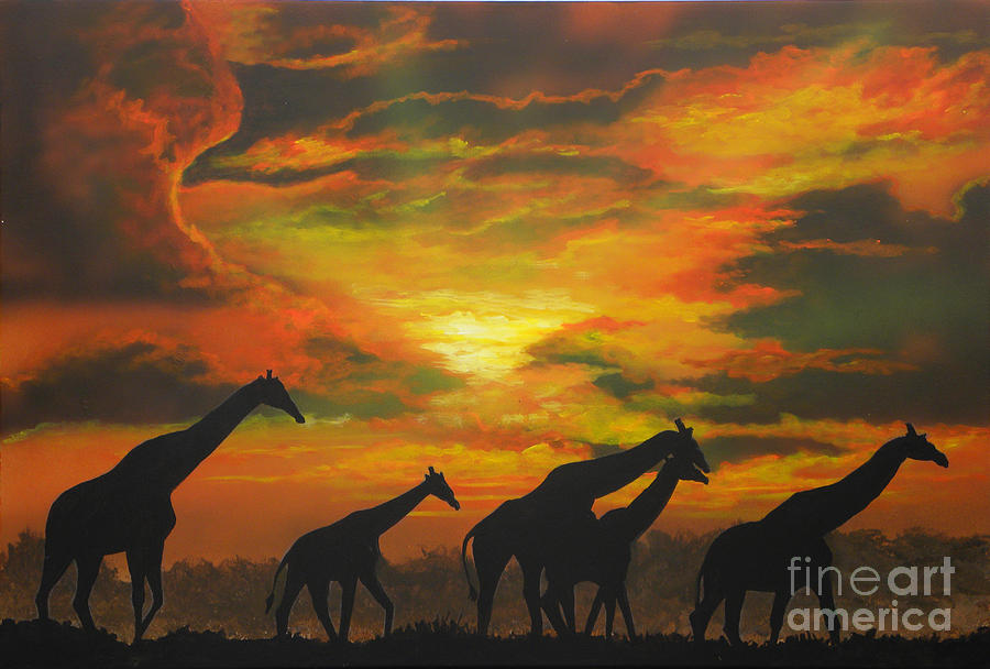 Clouds Painting - Wild by Mark Henry