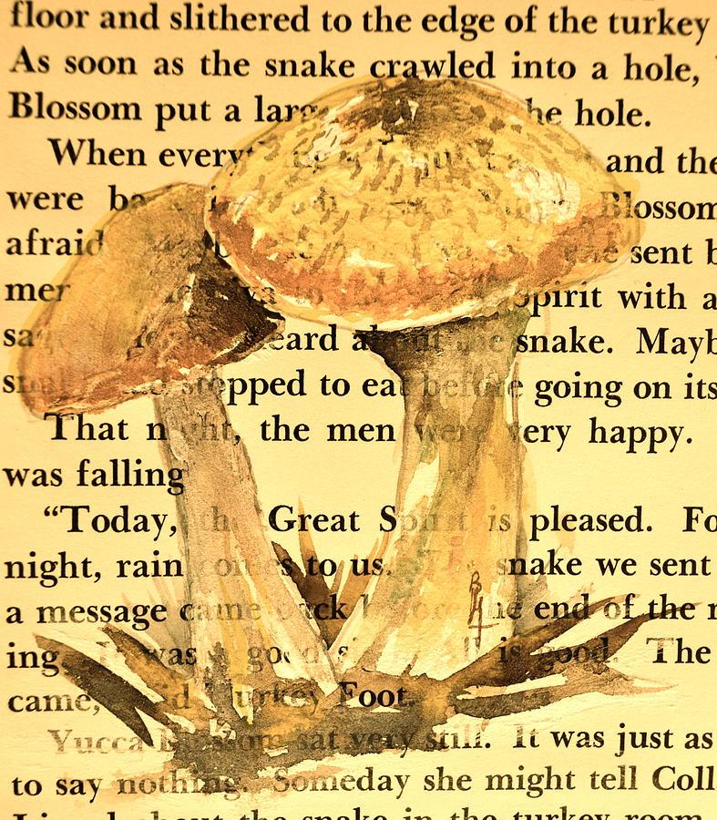 Wild Mushrooms Painting - Wild Mushrooms Warm And Subtle by Beverley Harper Tinsley