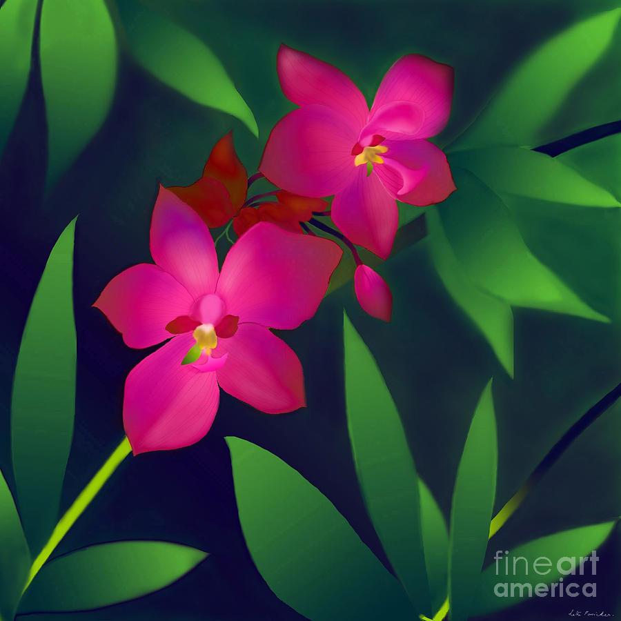 Wild Orchids Digital Art - Wild Orchids by Latha Gokuldas Panicker