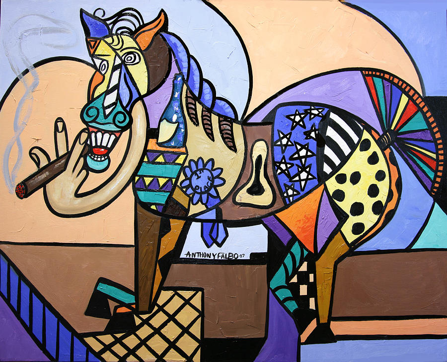 Horse Painting - Wild Pony by Anthony Falbo