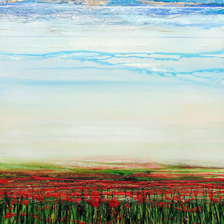 Poppies Mixed Media - Wild Poppies Corbridge  by Mike   Bell
