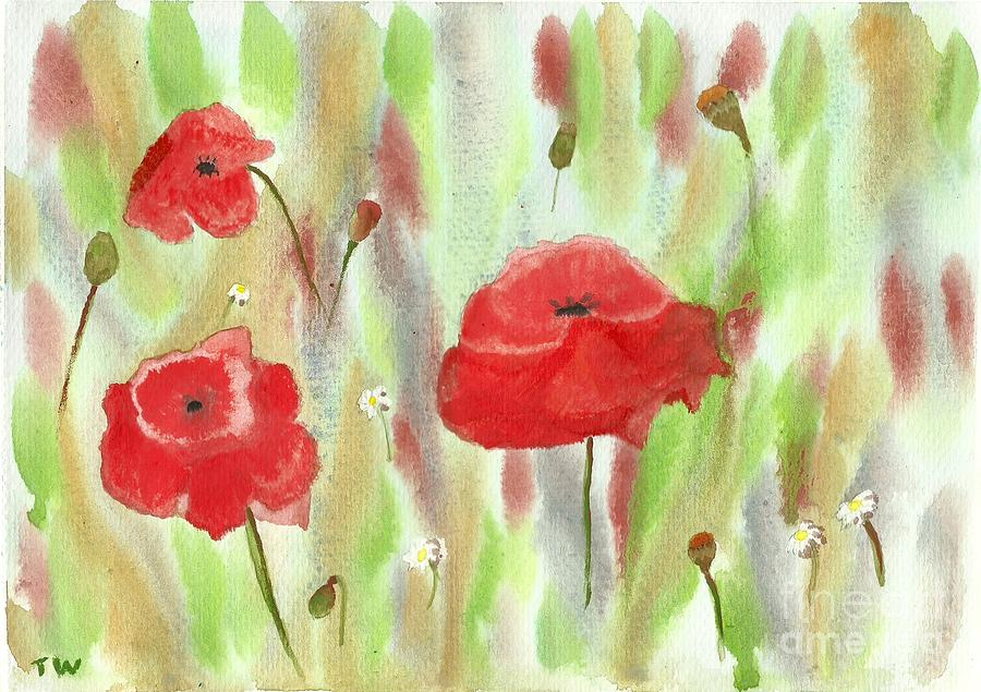 Wild Poppies Painting - Wild Poppies by Tracey Williams