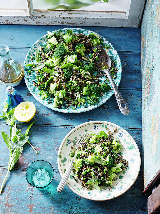 Wild Rice, Pea And Broccoli Salad Photograph by Brett Stevens