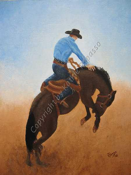 Western Painting - Wild Ride by Kathie Papasso