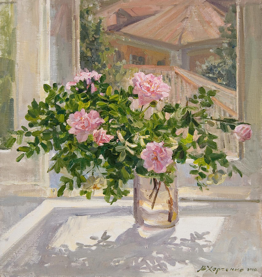 Roses Painting - Wild Rose by Victoria Kharchenko