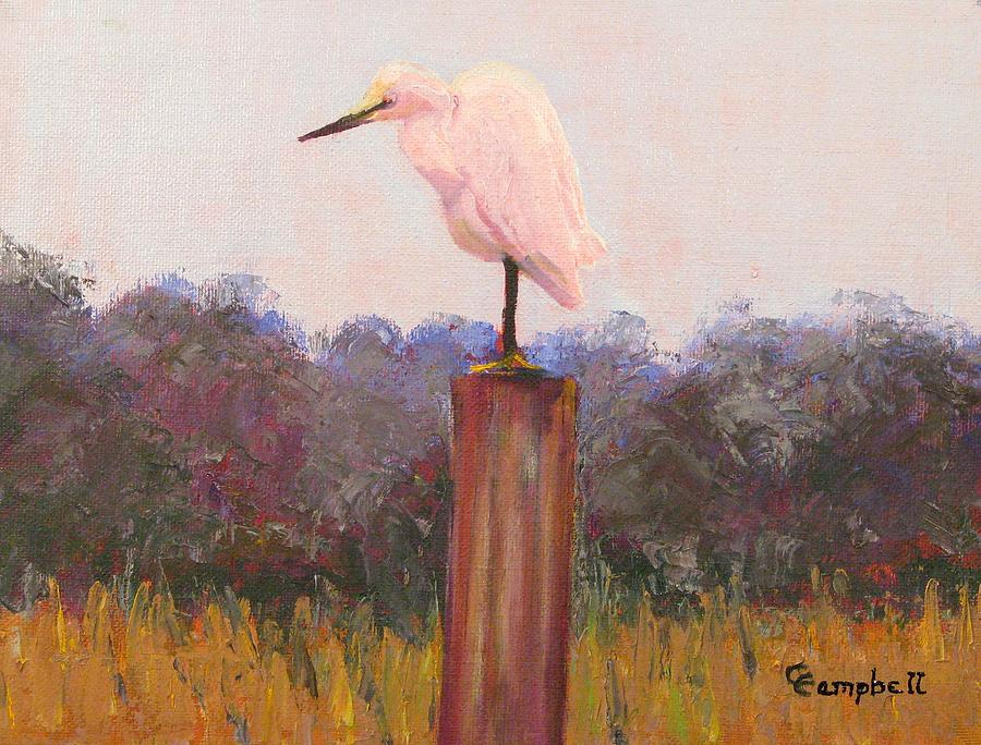 Egret Painting - Wild Southern Beauty by Cecelia Campbell