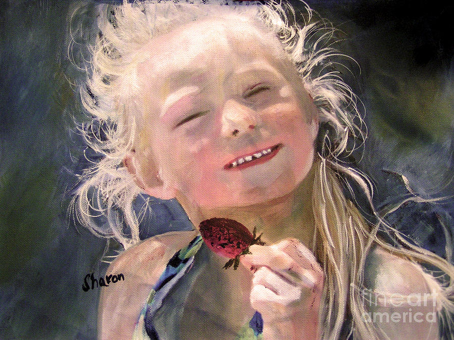 Portrait Painting - Wild Thing by Sharon Burger