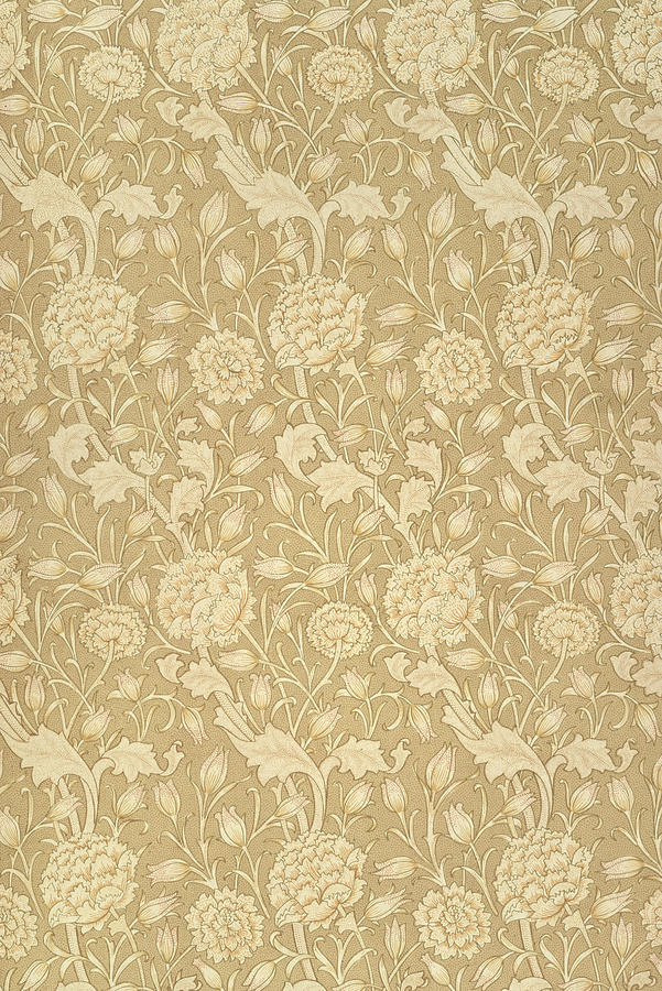 Pattern Tapestry - Textile - Wild Tulip Wallpaper Design by William Morris