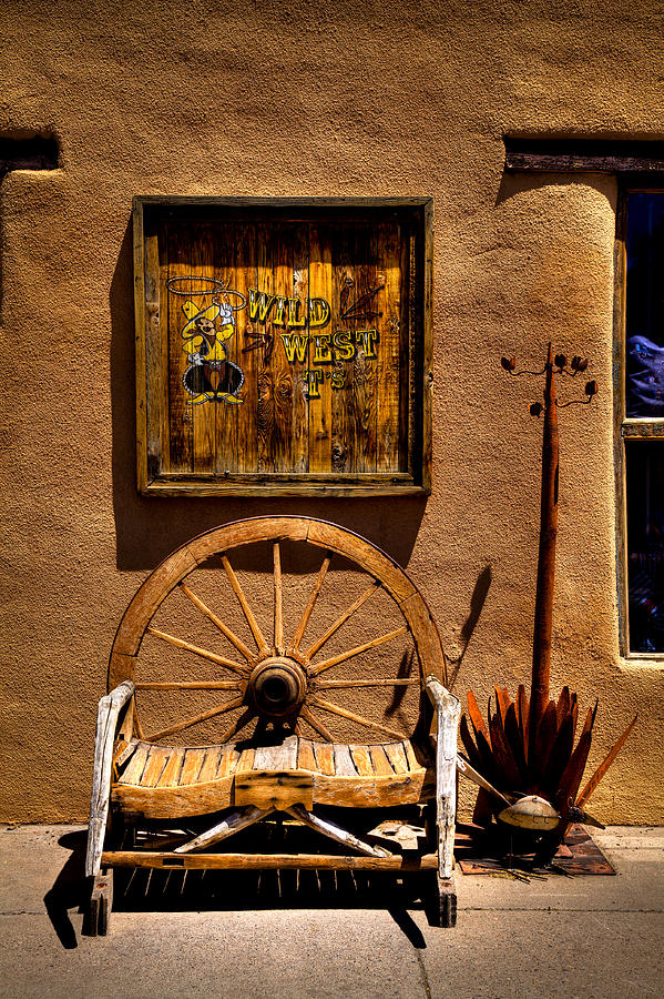 New Mexico Photograph - Wild West T-shirts - Old Town New Mexico by David Patterson