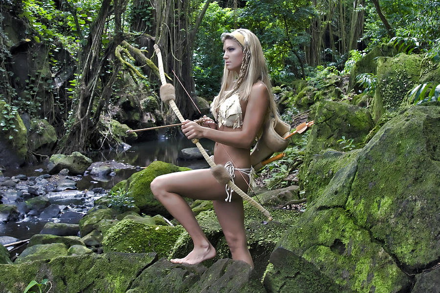 Wild Woman Photograph - Wild Woman 4 by Don Ewing