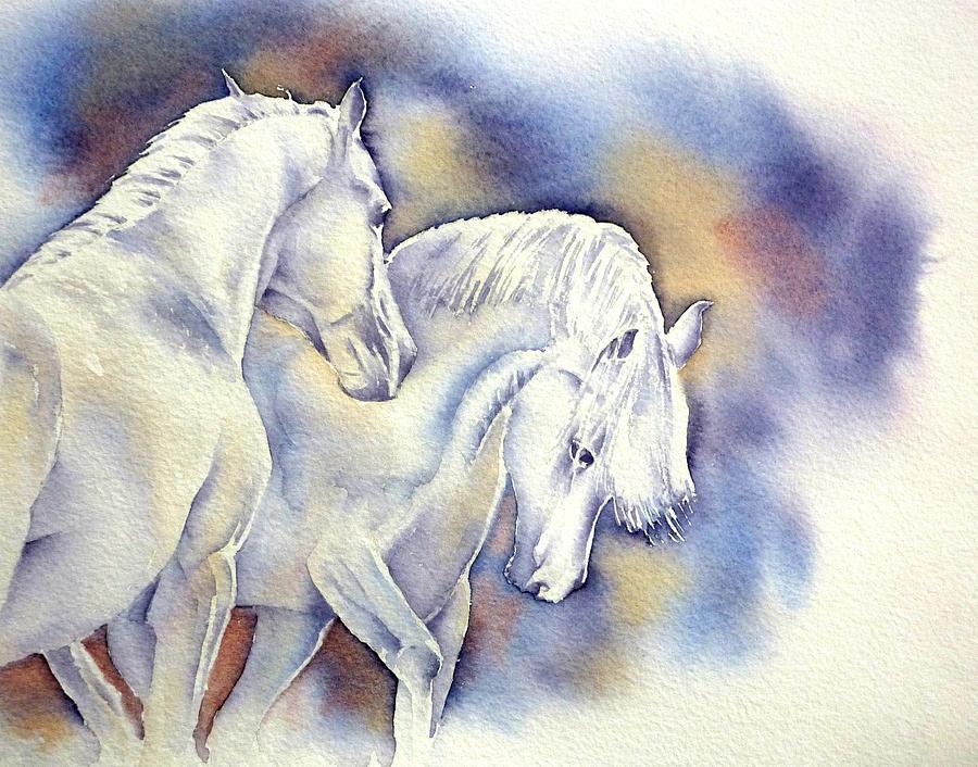 Horse Painting - Wilde Mane 3 by Thomas Habermann