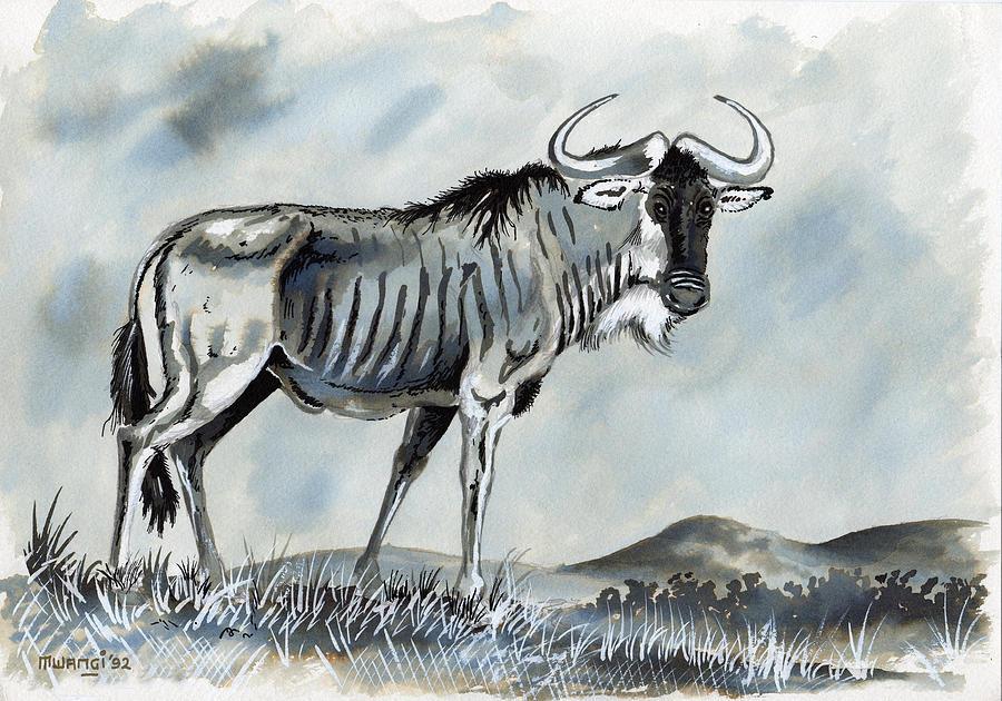 Wildebeest Drawing