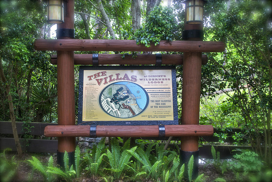 Wilderness Lodge Photograph - Wilderness Lodge Sign by Thomas Woolworth