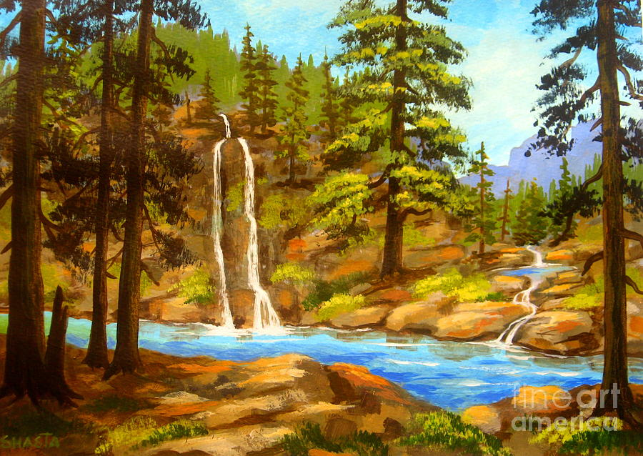 Serenity Scenes Landscapes Painting - Wilderness  Rest  by Shasta Eone