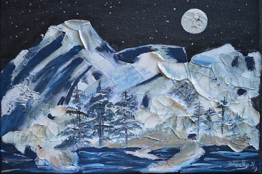 Mountain Painting - Wilderness Sky by Donna Blackhall