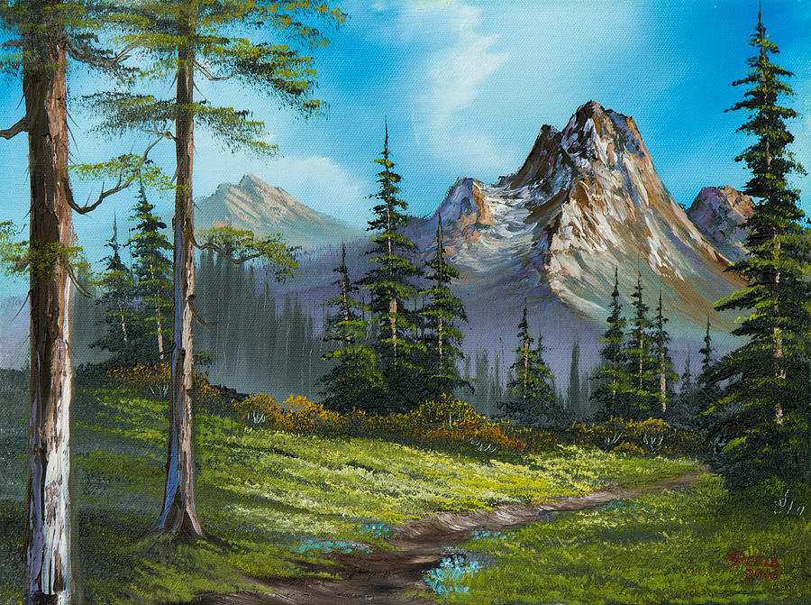 Landscape Painting - Wilderness Trail by Chris Steele